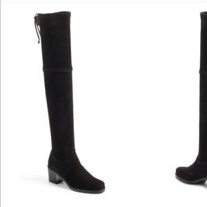 Stuart Weitzman Elevated Black Suede Boots